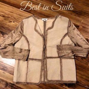 Carducci Boho Suede Crochet Jacket
